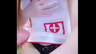 คลิปหลุดมาใหม่ น้องทอฝัน เย็ดสดแตกในคอสเพลย์แต่งชุดพยาบาล